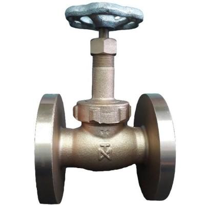 Fig 1 FL - Válvula globo bronze classe 300 flange ANSI - disco e anel em aço inox