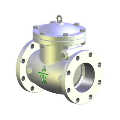 Fig. 668 classe 150 - Valvula de Retenção com portinhola aço inoxidável com flange