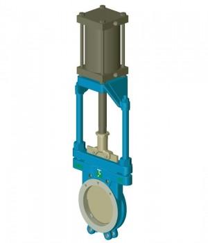 Série 1600 - Válvula guilhotina acionamento Pneumático - Niagara